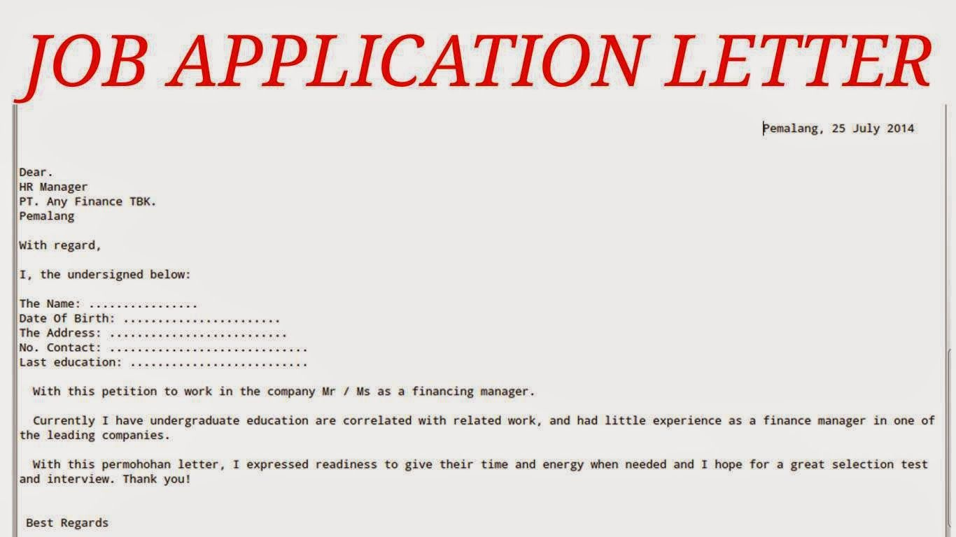 How to write an application letter xi