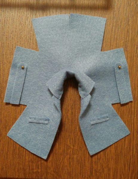 オビツ11用フェルトコート型紙 - そらとびえいの空中散歩 #dollsdollsdolls