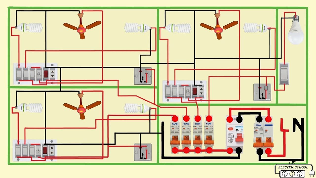 complete electrical house wiring diagram in 2020 | House ...