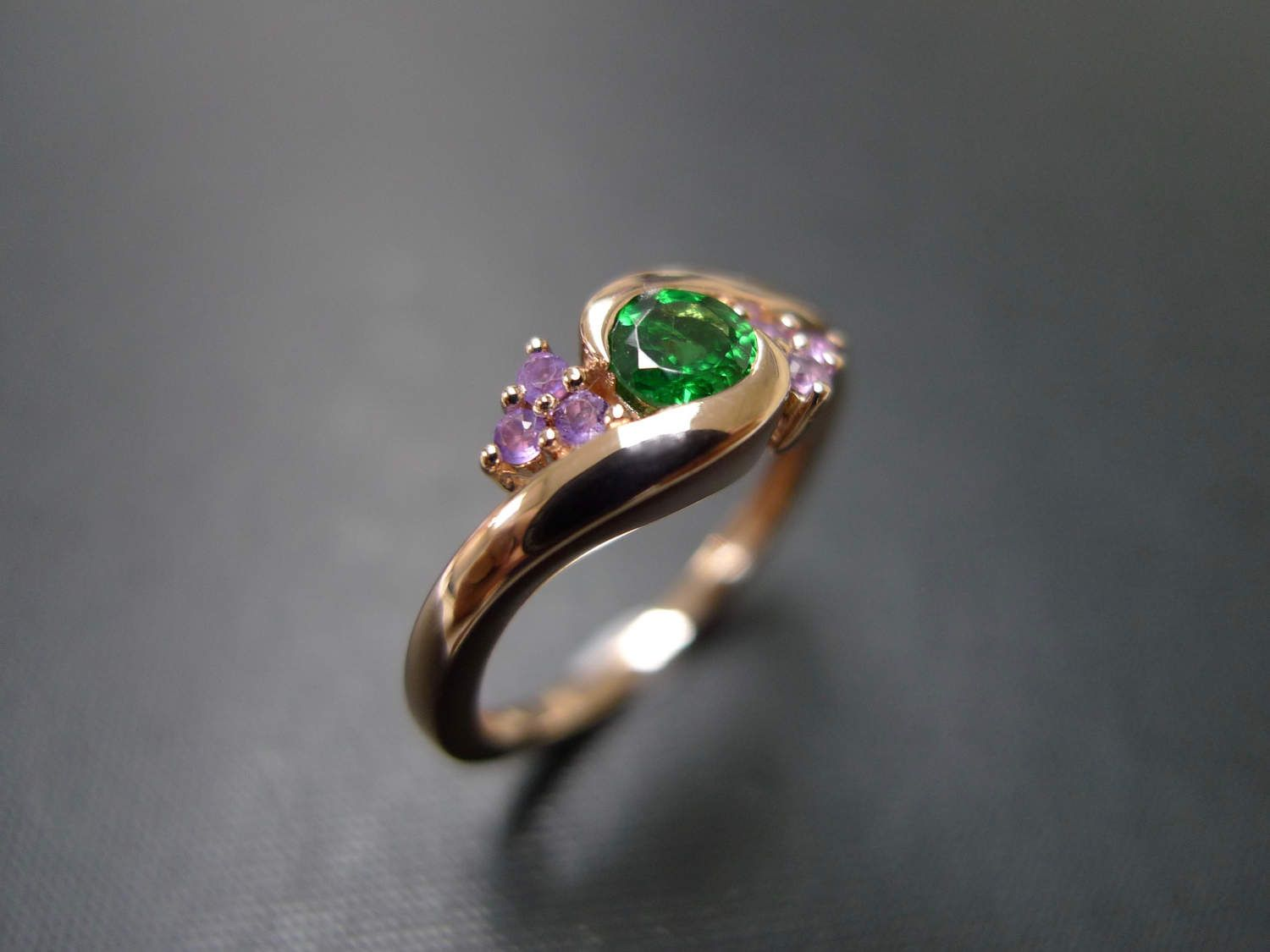 rings wedding with gold jewelry cart to yg nl eternity in emerald green round yellow gemstone cut bands add