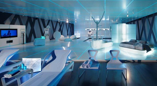 tron-inspired interior design. | countless possibilities