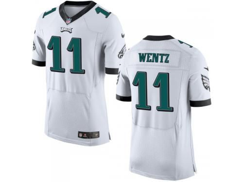 NFL Philadelphia Eagles  11 Carson Wentz Nike Men Elite Road White Jersey a763220cf