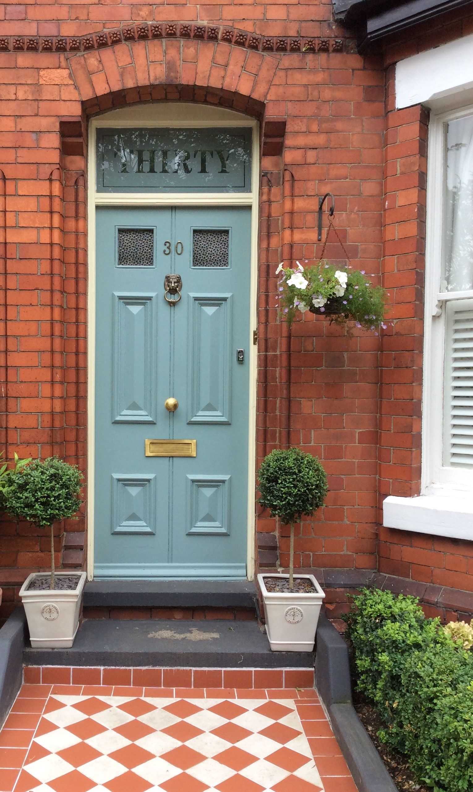 Farrow And Ball Oval Room Blue Front Door With Slipper