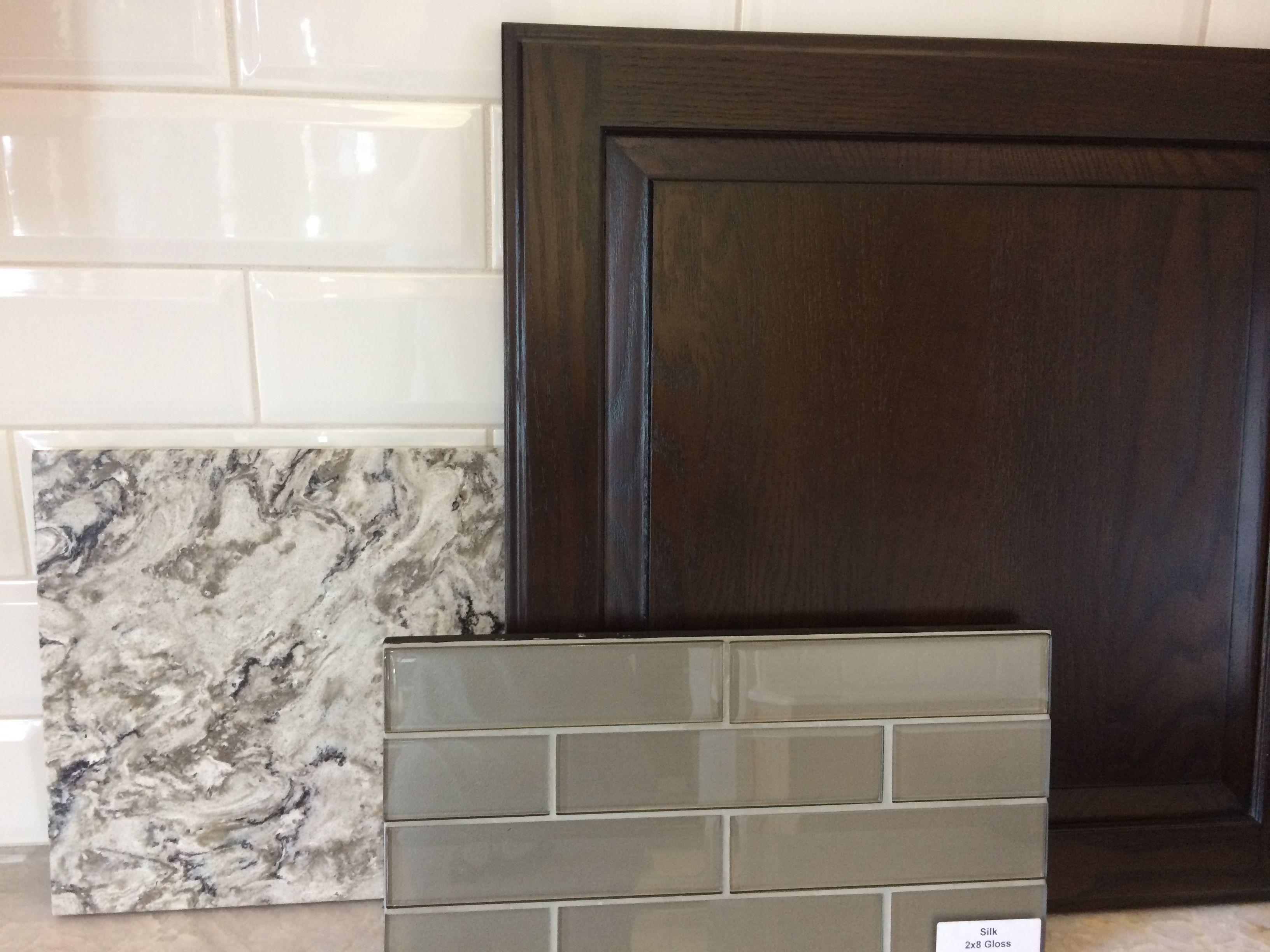 Dark Walnut Stained Cabinets