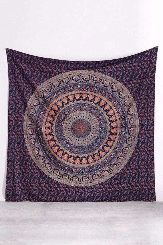 Indian Boho Round Mandala Psychedelic Wall Hanging Tapestry Throw Ethnic Decor in | eBay