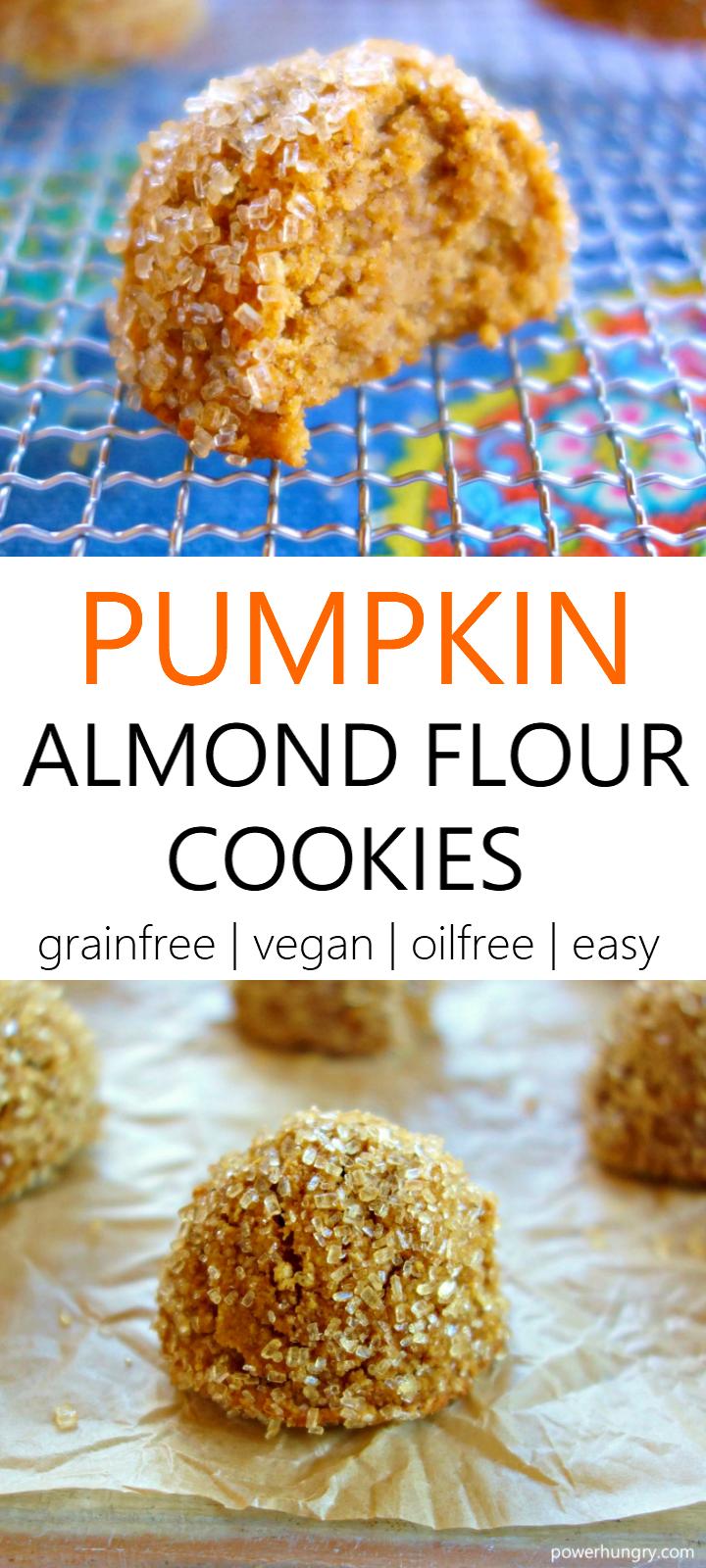 Pumpkin Almond Flour Cookies Vegan Grain Free Oil Free