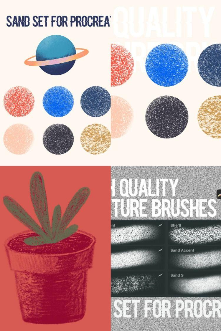 Procreate texture brushes. Sand in 2020 Texture, Ipad