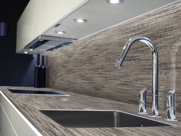 Schichtstoffplatten passen durch ihre vielfältigen Designs in die - arbeitsplatte küche grau
