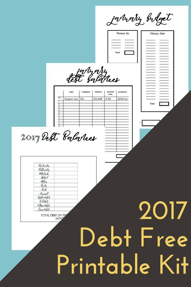 Budget Printables Dave Ramsey Debt Snowball Debt Free Scream ...