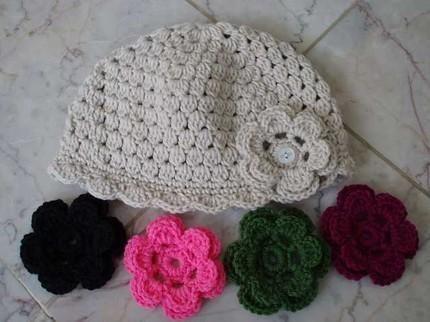 846fc0f35 Gorros tejidos a crochet paso a paso para niña - Imagui