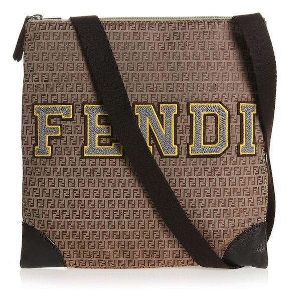 #A lovely Fendi bag that will be loved as much by mummies as their daughters. With its all over 'zucca' print and sporty Fendi appliqué, this bag is not only stylish but practical too; as it has a cross body shoulder strap, ideal for when you are on the go. £ 253,00