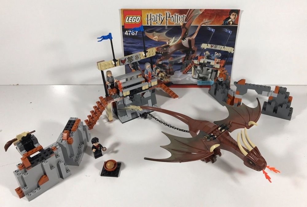Harry Potter Lego Set #4767 Harry and the Hungarian Horntail Goblet ...