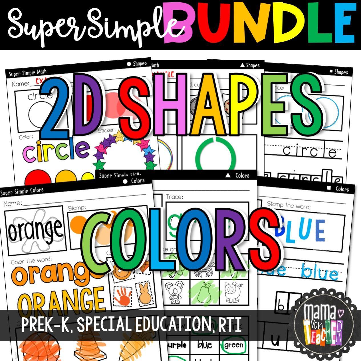 Super Simple Bundle Numbers 2d Shapes Letters Colors