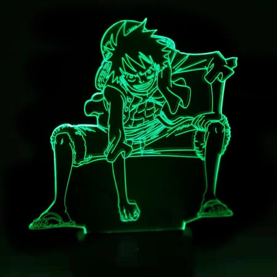 Luffy 3d led illusion lamp 7 colours