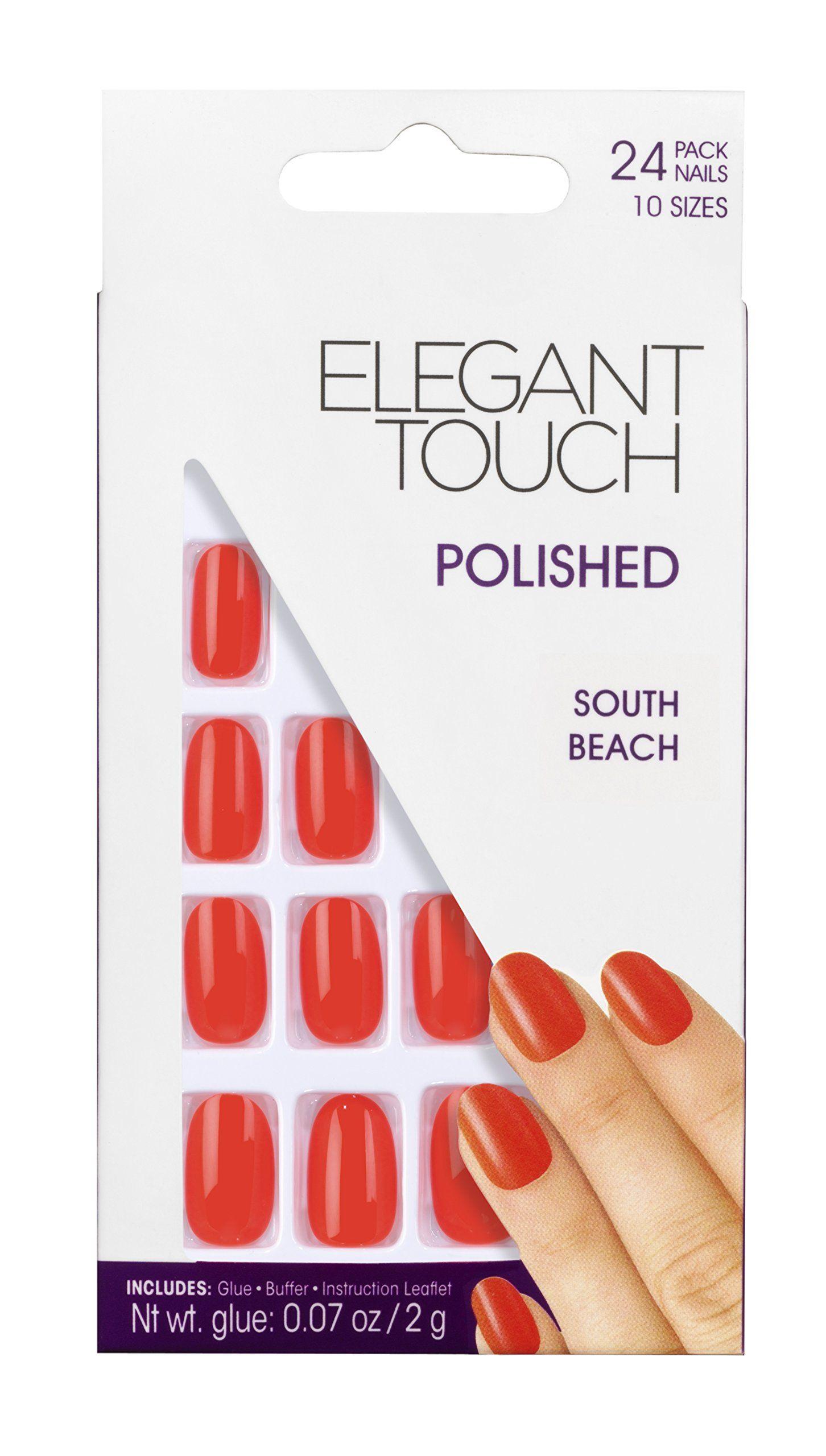 Elegant Touch Polished Nails Ipanema Collection, South Beach Orange: Amazon.co.uk: Beauty