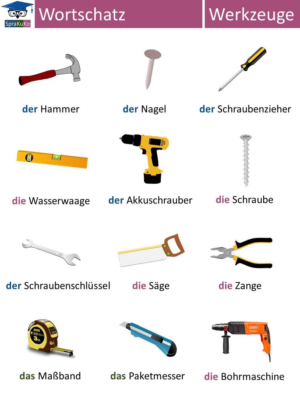 Deutsch lernen wortschatz werkzeuge logo deutsch for Von deutsch auf englisch