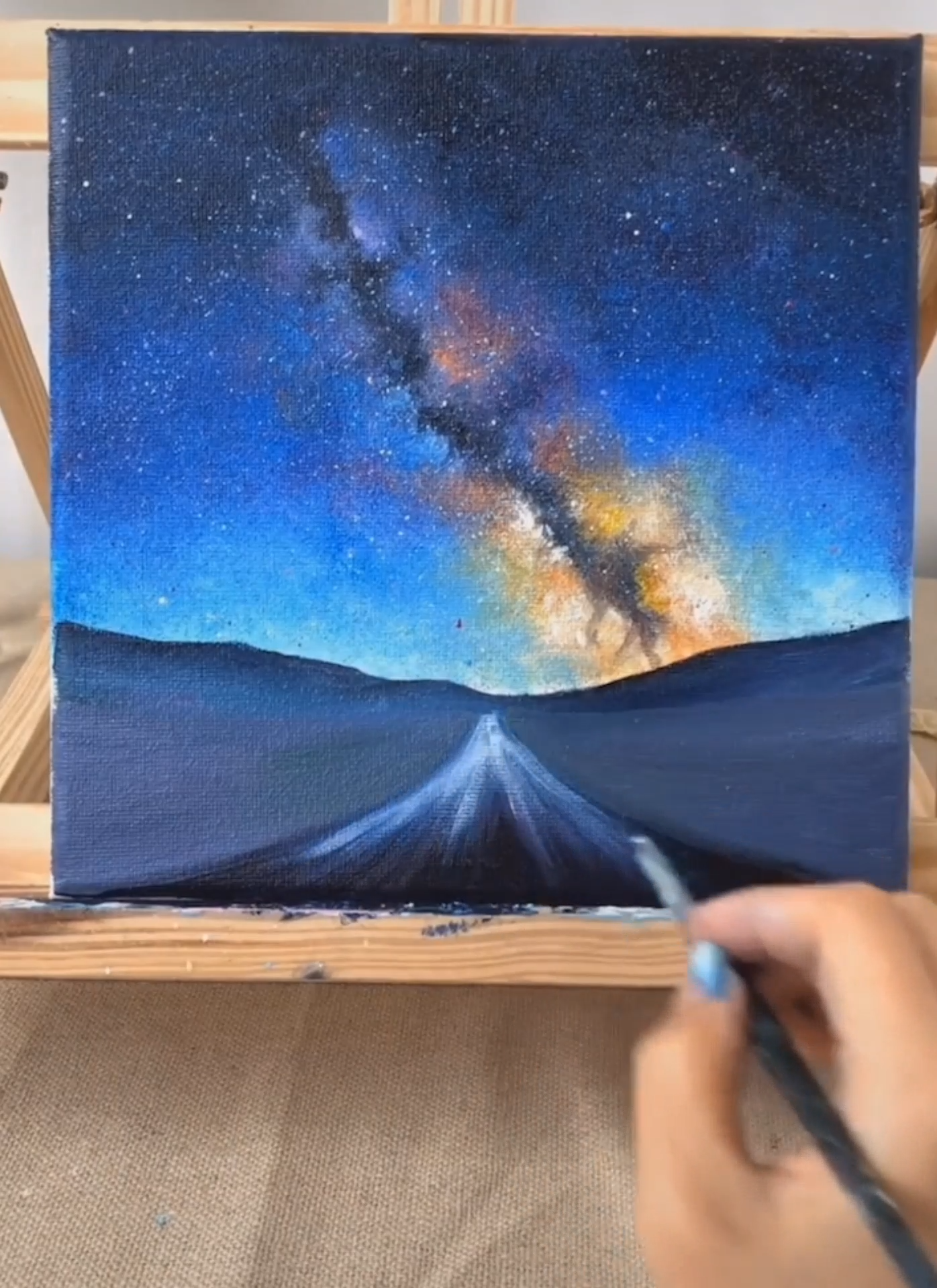 Let's learn to draw together. innovative Oil painting, # DIY Oil painting # Oil painting#Starry sky