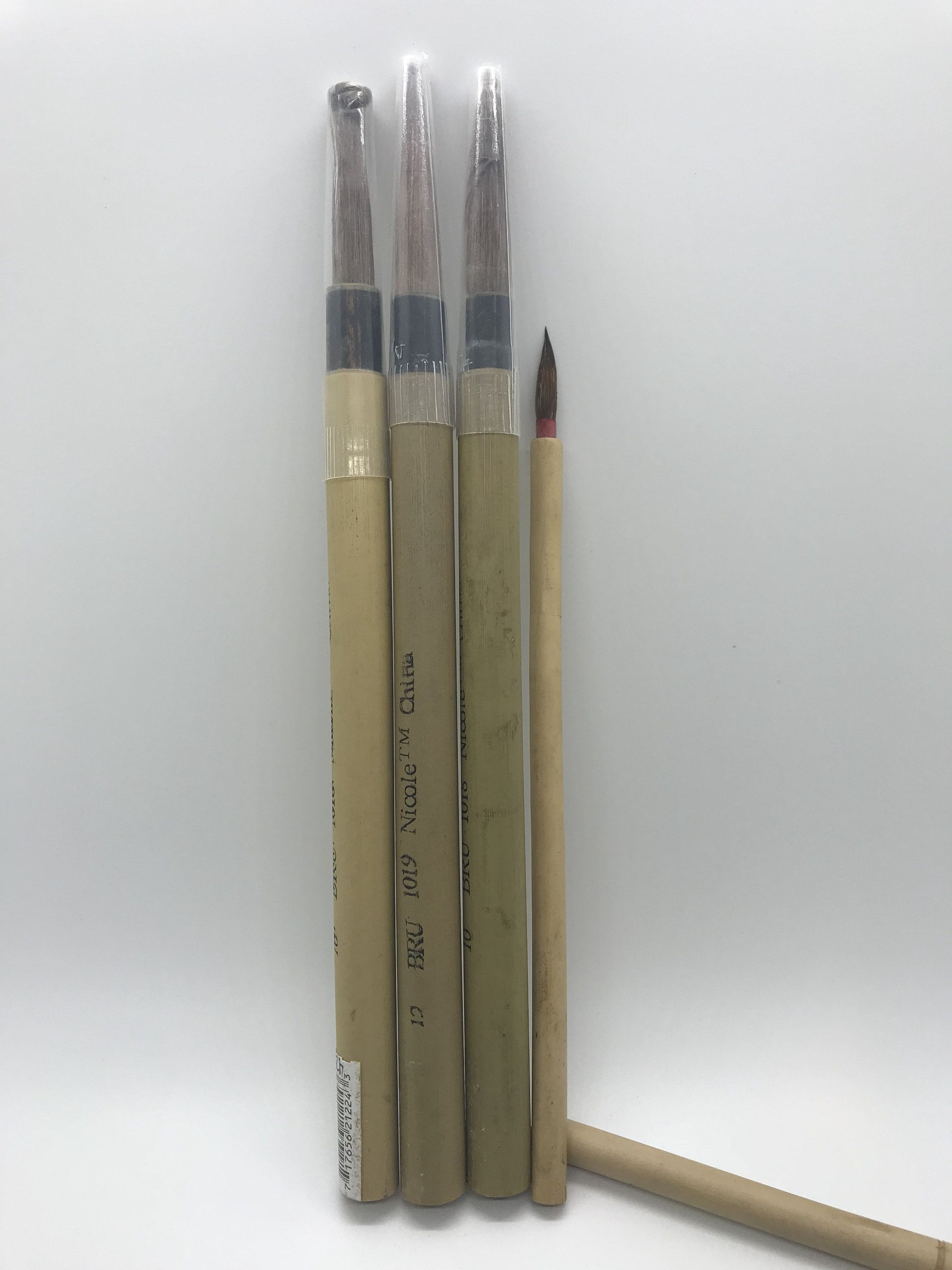 Bamboo Artist Brush Set Chinese Bamboo Brushes Sumi