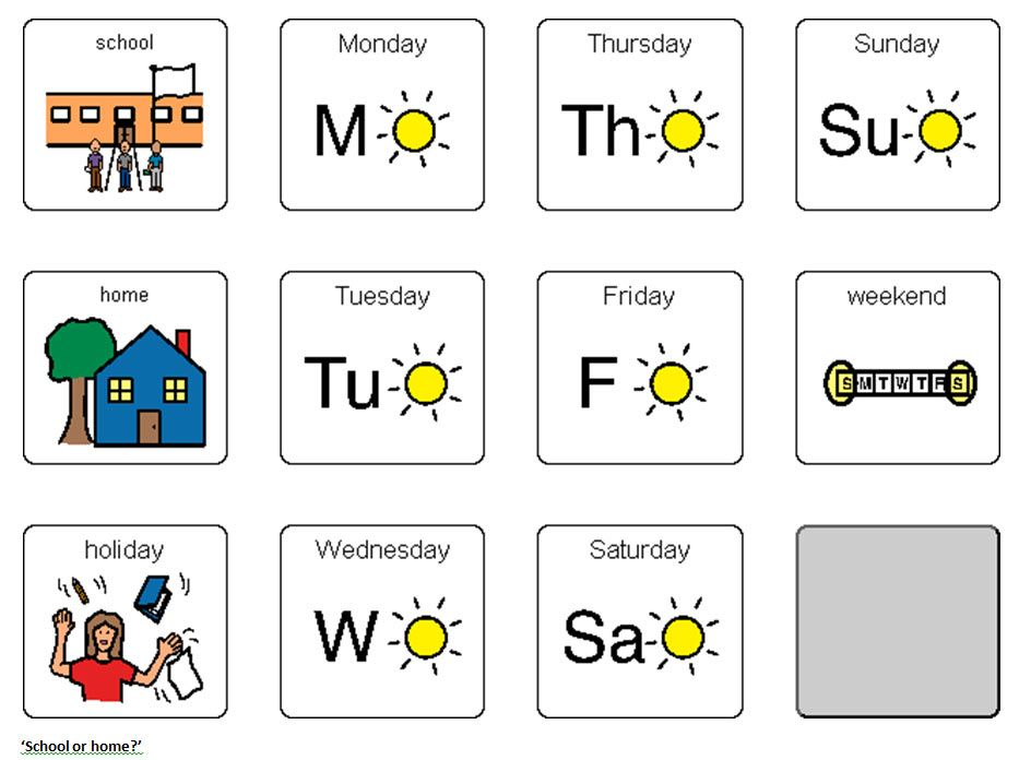 Boardmaker Symbols Days Of The Week Monday Google Search