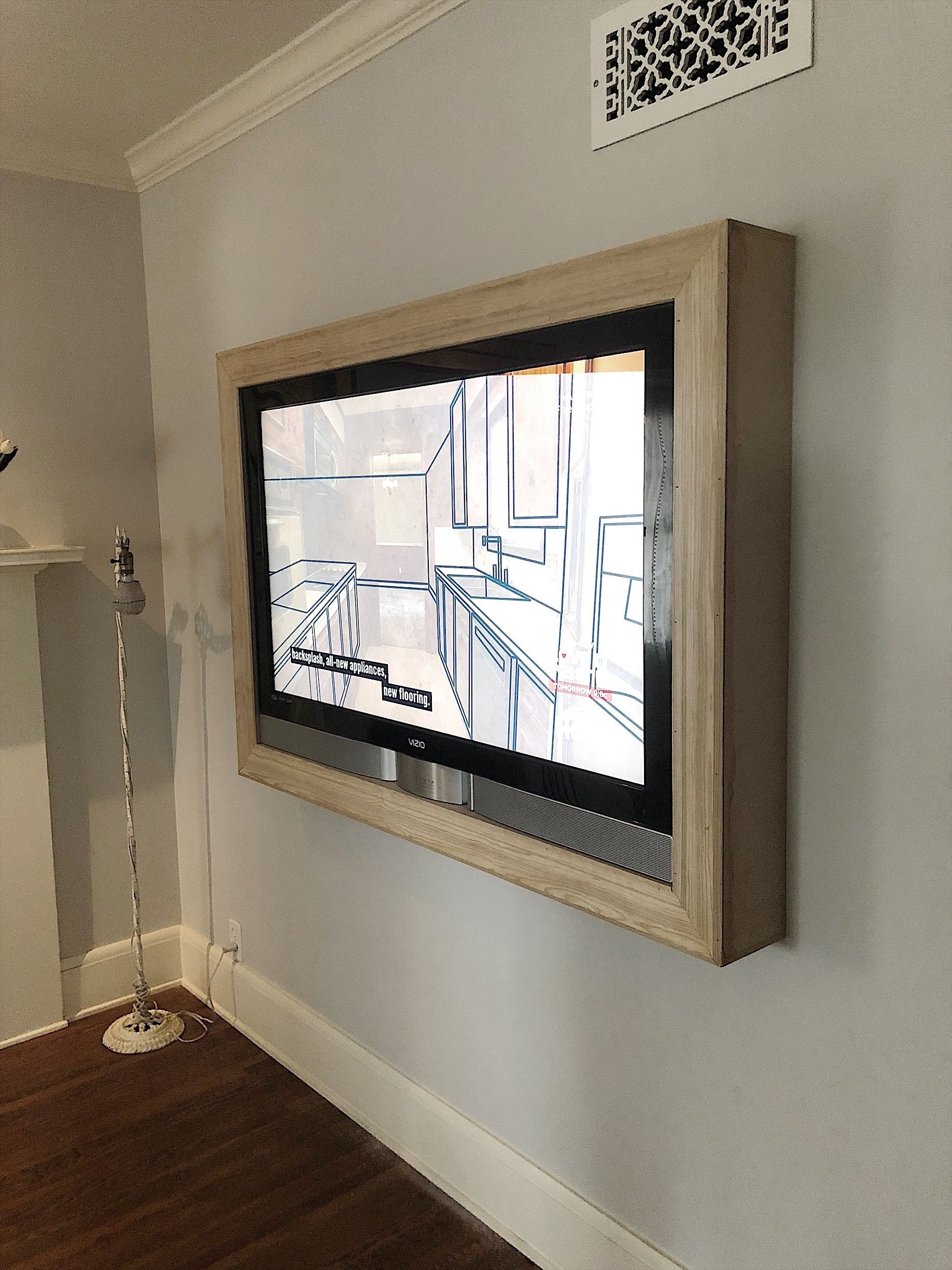 Five steps to build a frame for a wall mounted tv