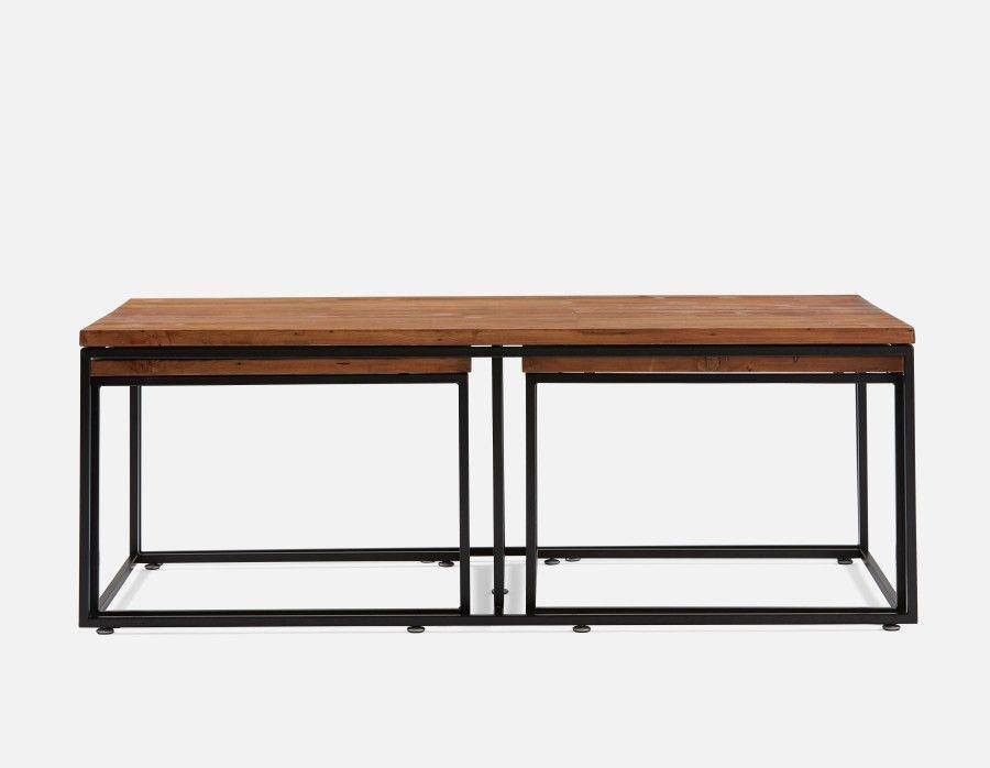 Juni Ensemble De 3 Tables De Salon Noir Table De Salon Ensemble Table Basse Salon Noir