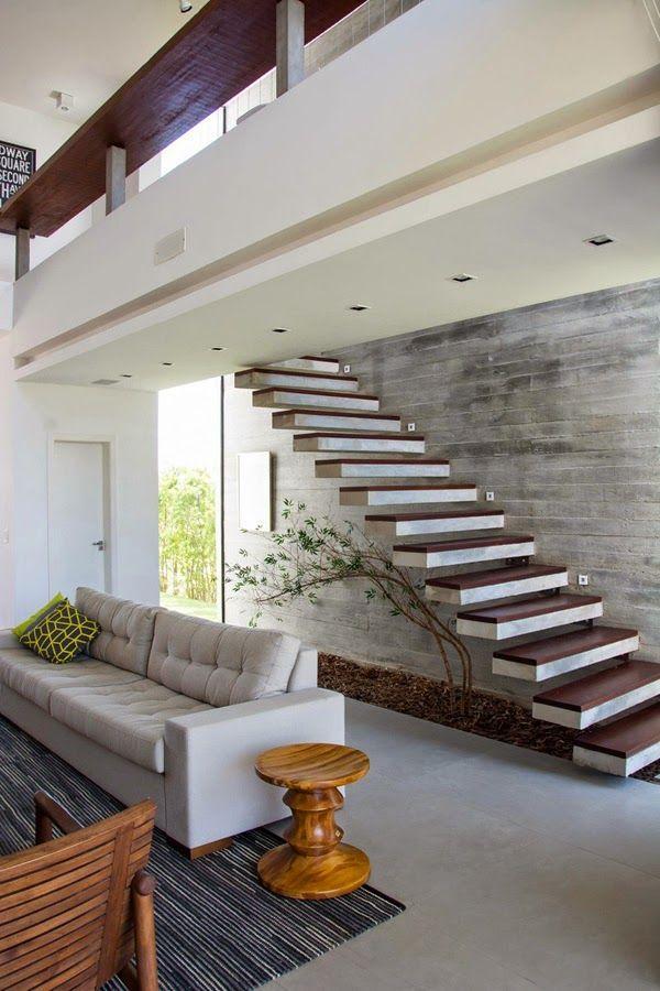 Casas Minimalistas y Modernas escaleras