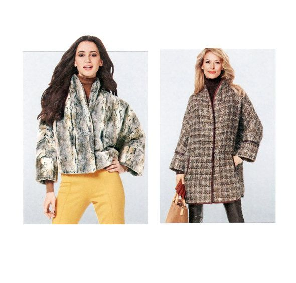 2000s COAT PATTERN Jacket Pattern Kimono Sleeves Jackets Coats Faux ...