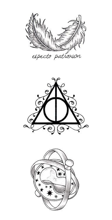 9acb91b866794 Tattoo Ideas Central - Great Ideas for your next Tattoo. Tatouage Hp, Time  Turner