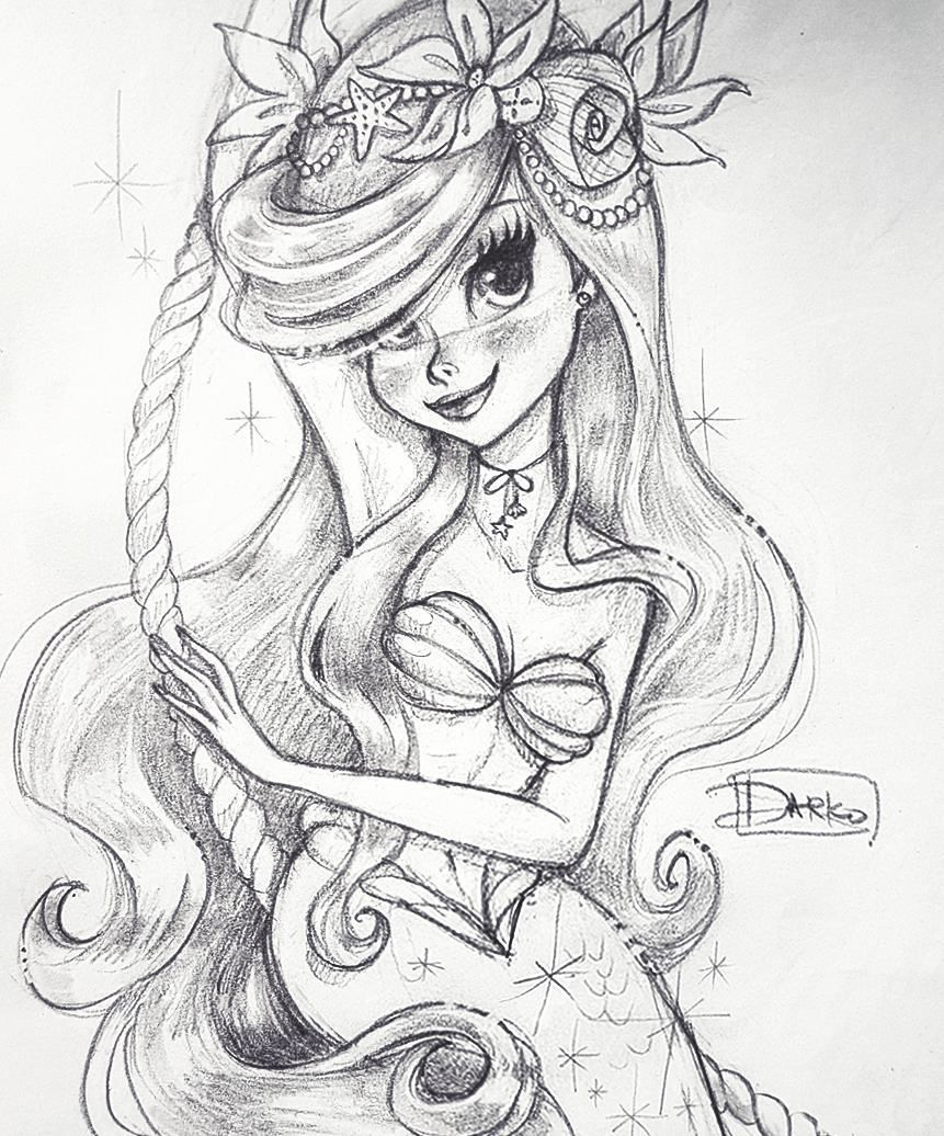 169 Likes 3 Comments Darko Dordevic Darkodark On Instagram Ariel Thelittlemermaid Ariel Mermaid Disne Mermaid Drawings Mermaid Art Disney Tattoos