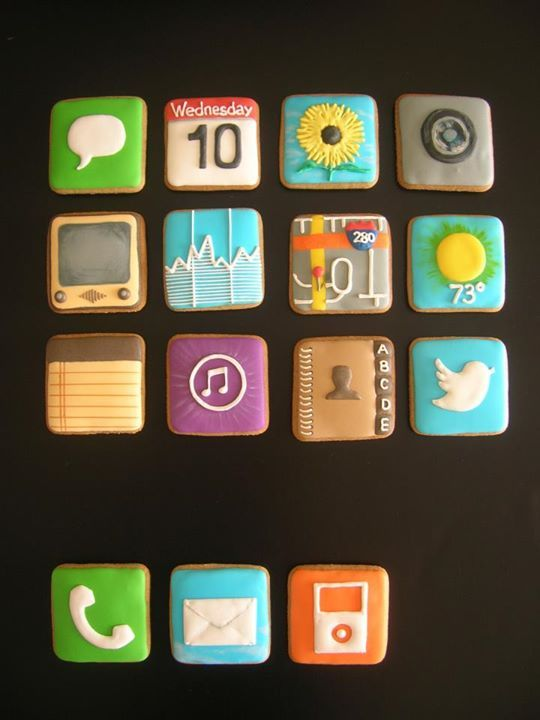 Iphone Cookies Decorated Desserts Cookies Iced