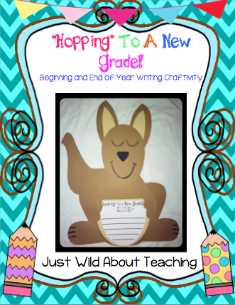 Just Wild About Teaching: Hopping and Leaping Into a New Grade - Writing Craftivity! Enter now for a chance to win this packet.