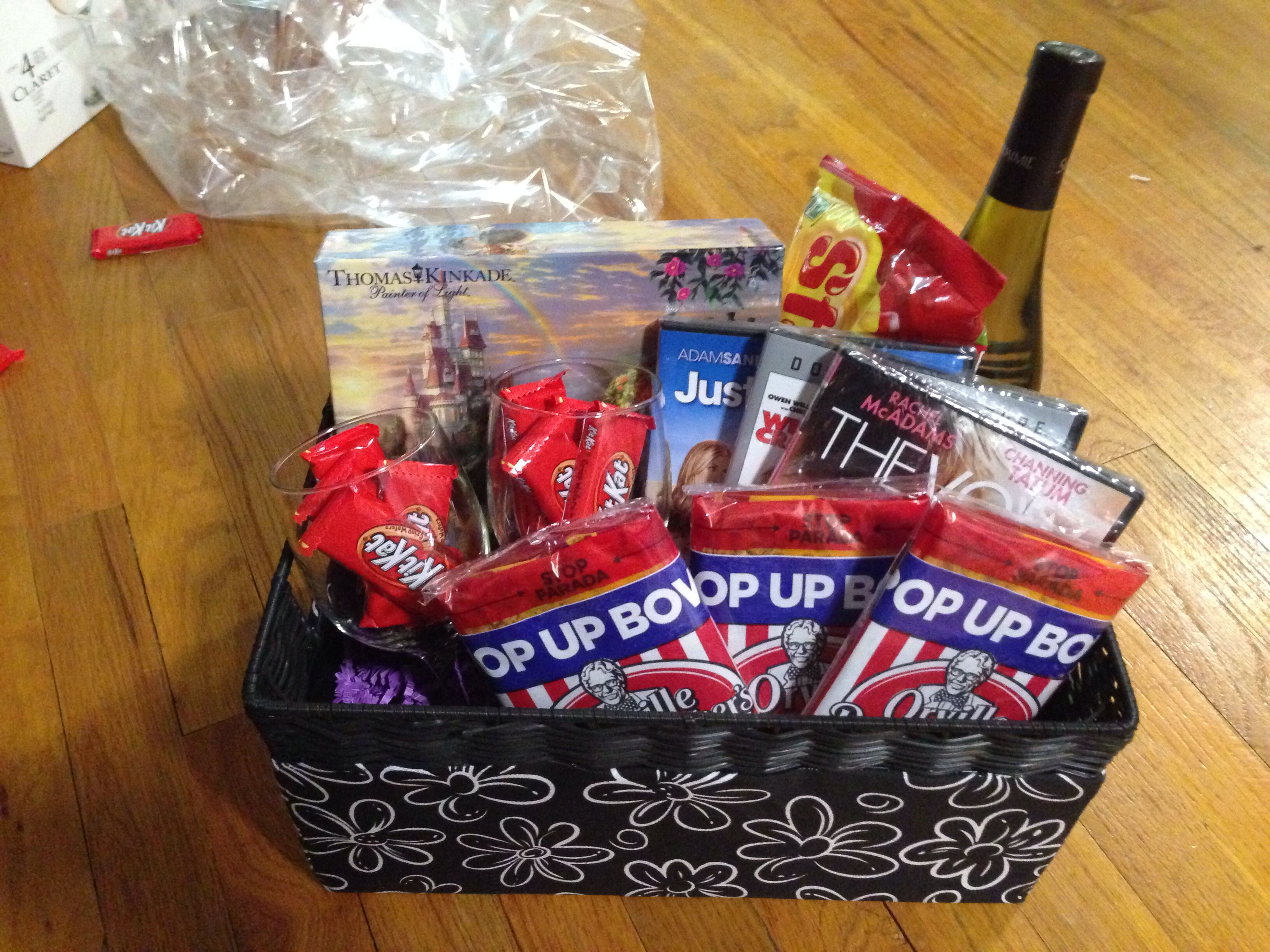 Bridal shower date night gift basket. Includes Beauty and