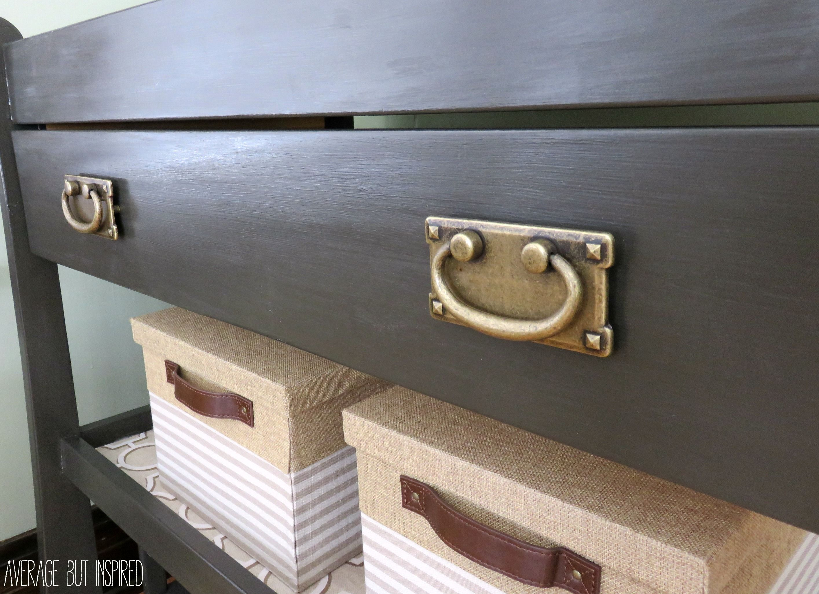 A Changing Table Upcycle {A Changing Table Gets New Life