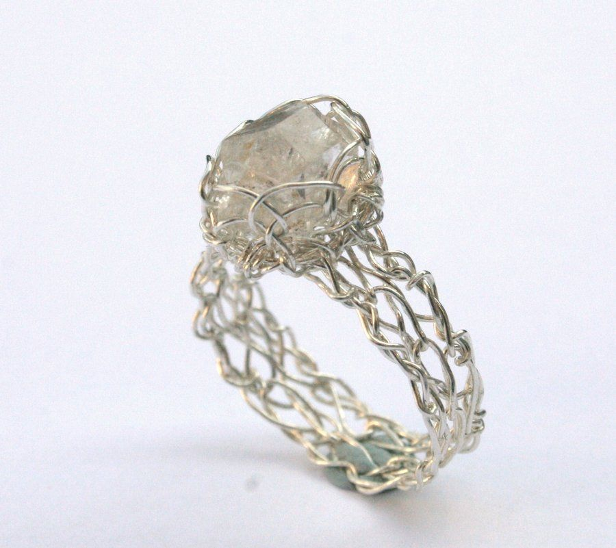 wiccan wedding rings pagan wedding rings on herkimer diamond crochet ring by - Wiccan Wedding Rings