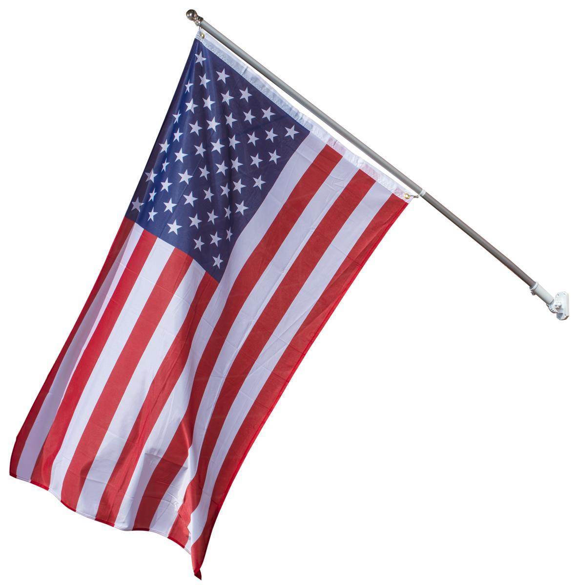 Flag Pole With American Flag American Flag Flag Pole Flag