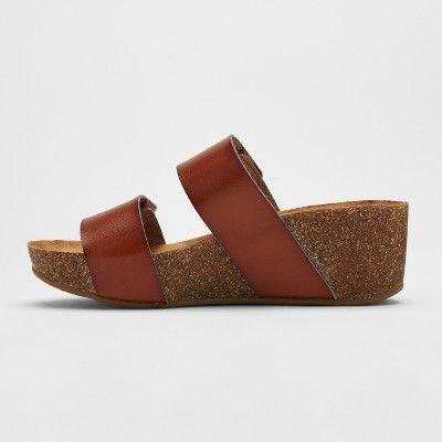 12935cea57ab Women s Mad Love Jillian Footbed Sandals - Cognac (Red) 8