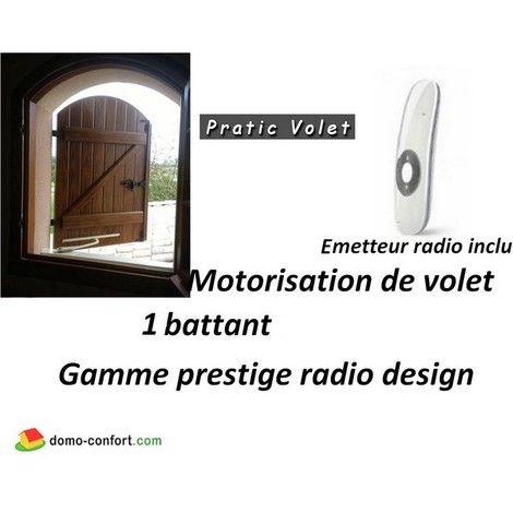 Motorisation RADIO volets battants PRESTIGE RADIO DESIGN 1 vantail - electricite dans une maison