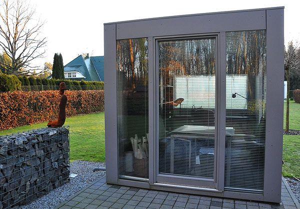Cube Design Gartenhaus mit Glasfront | Gartenhaus | Pinterest
