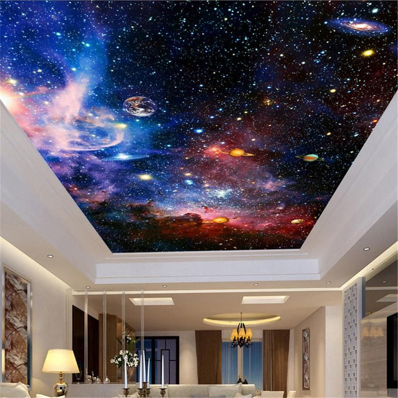 Ceiling Mural Wallpaper Modern 3d Cosmic Starry Sky Space Photo Wall Paper Living Room Theme Hotel Background Wall Decor Murals Floor Wallpaper Ceiling Murals Theme Hotel