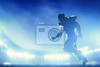 Choose a wall mural  football, american, goal - american football players in game, running. stadium lights. PIXERS wall murals made ​​of great fabrics. Choose artistic photos from our catalog.