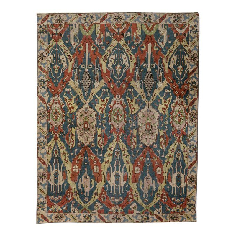 Antique Persian Tabriz Rug With Modern Art Deco Style Petag