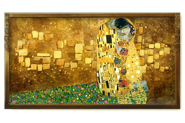 Google Doodle using Klimt's The Kiss