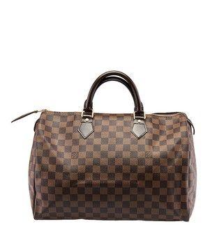 03135962a7ba Louis Vuitton Speedy 35 Damier Ebene (35254) Brown Coated Canvas ...