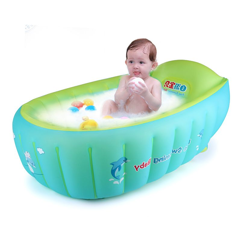 2017 New Baby Inflatable Bathtub Swimming Float Safety Bath Tub ...