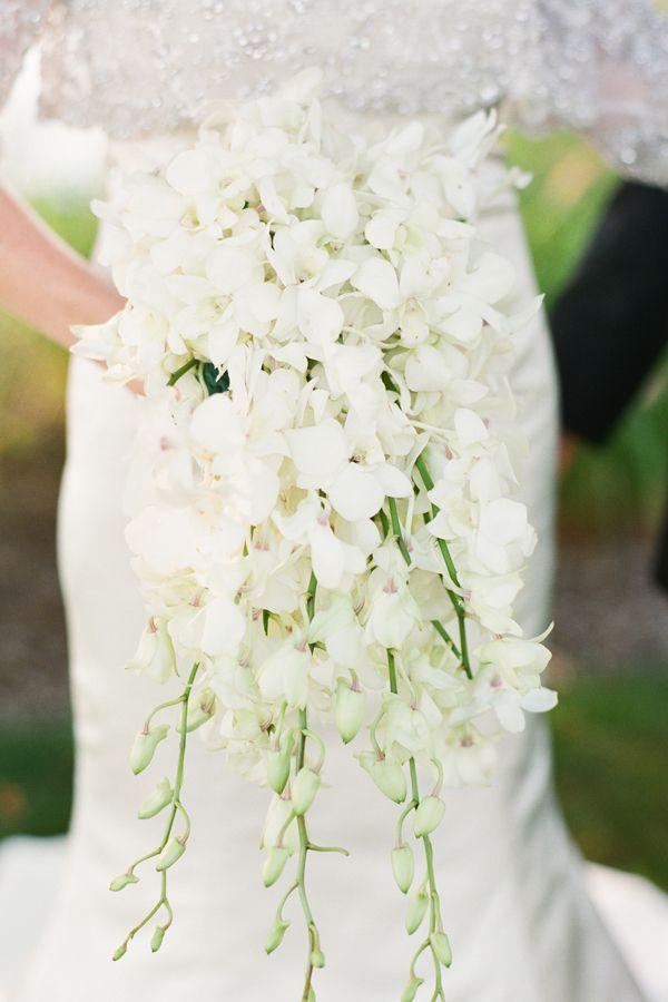 Cascading White Floral Bouquet Wedding Pinterest Wedding