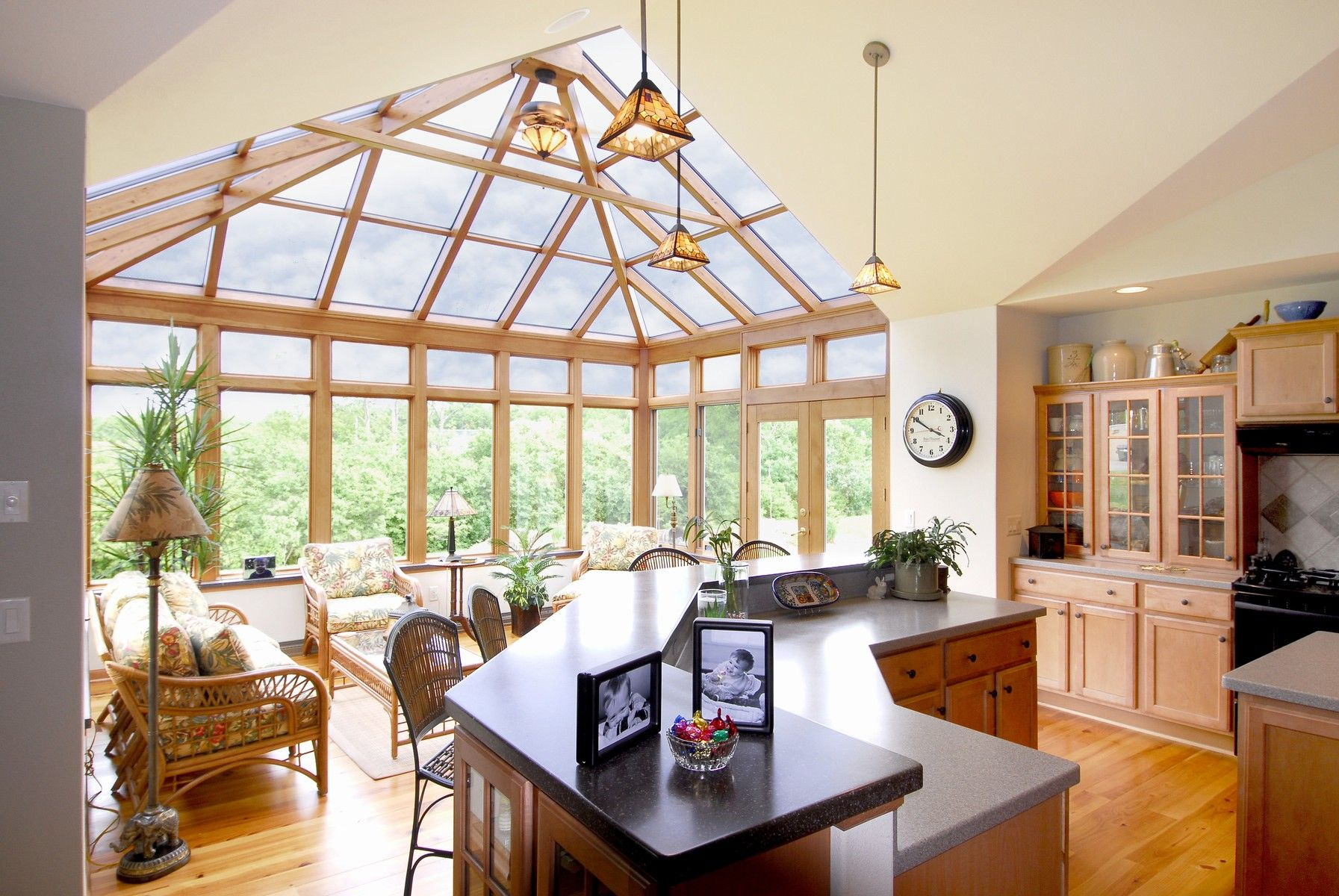 Gorgeous and open kitchen Let us build a sunroom addition to bring