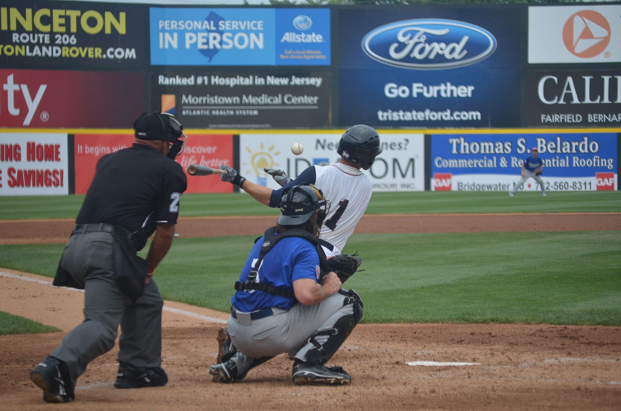Scott Kelly Somersetpatriots Getpatriotic Nj Baseball Hit Jersey New Jersey Patriots