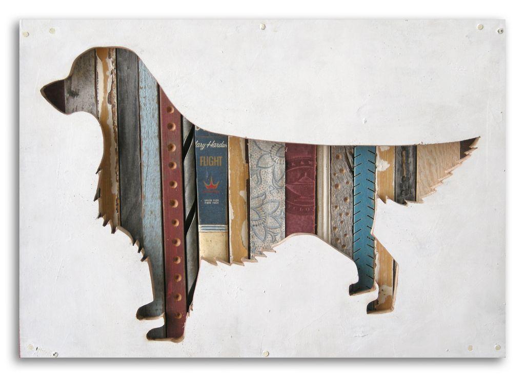 Mini Golden Retriever Dog Walk Collection by Dolan Geiman for BourbonandBoots.com