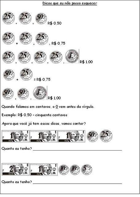 Algumas Atividades De Sistema Monetario Brasileiro Com Imagens