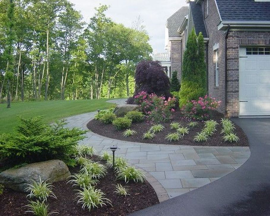 99 Pretty Front Yard Patio Designs Ideas Front Walkway Landscaping Sidewalk Landscaping Courtyard Landscaping